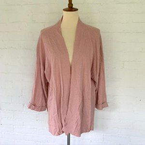 A New Day Pink Cardigan Knit Sweater One Size